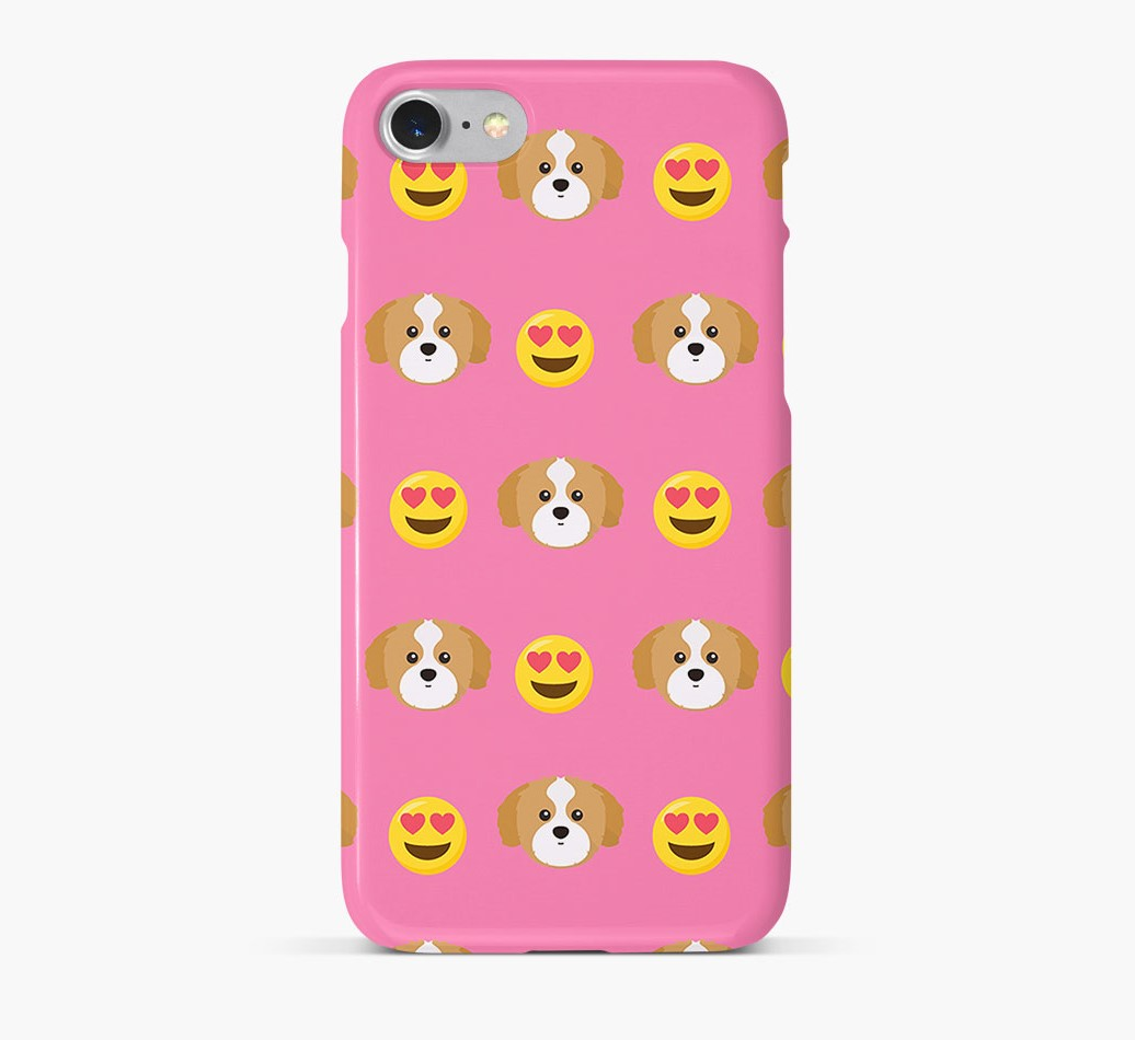 'Heart Eyes' Pattern Phone Case with Shih Tzu Icon