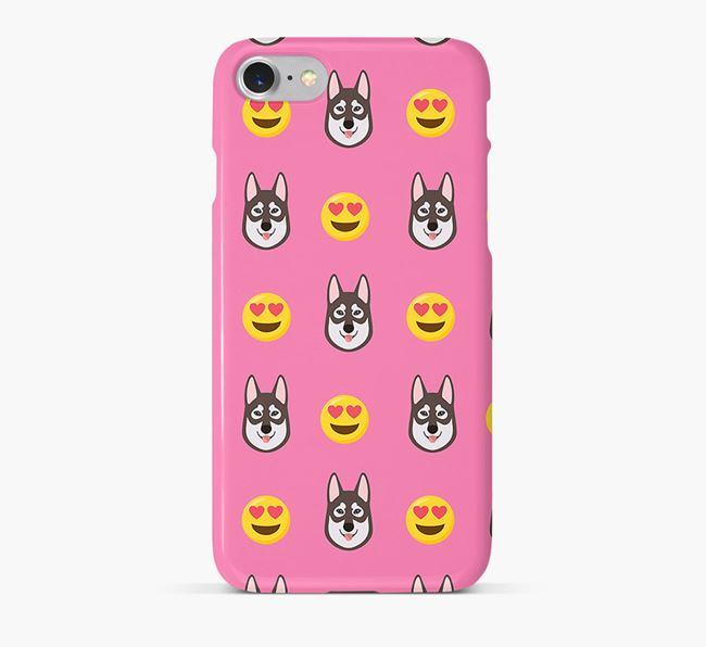 'Heart Eyes' Pattern Phone Case with Tamaskan Icon