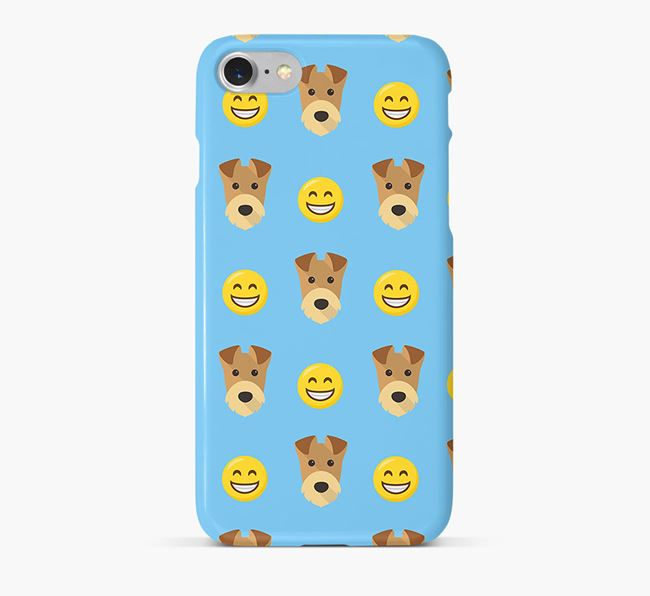 'Smile' Pattern Phone Case with Airedale Terrier Icon