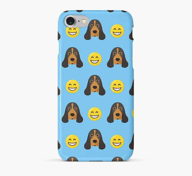 'Smile' Pattern Phone Case with American Cocker Spaniel Icon