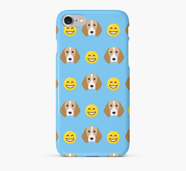 'Smile' Pattern Phone Case with Beagle Icon