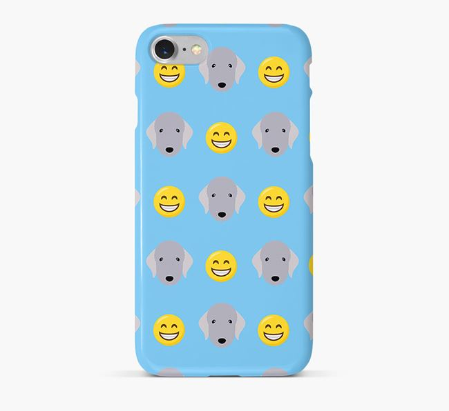 'Smile' Pattern Phone Case with Bedlington Terrier Icon