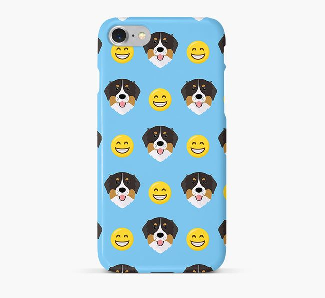 'Smile' Pattern Phone Case with Bernese Mountain Dog Icon