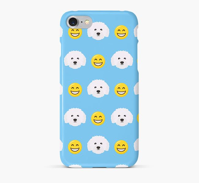 'Smile' Pattern Phone Case with Bolognese Icon