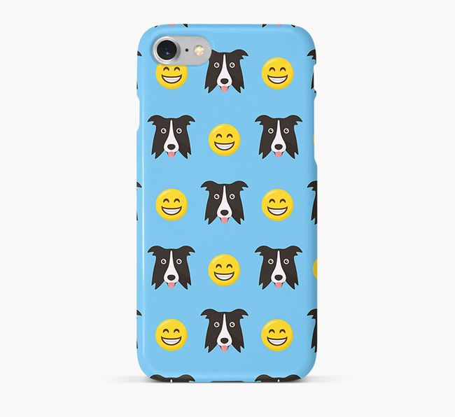 'Smile' Pattern Phone Case with Border Collie Icon
