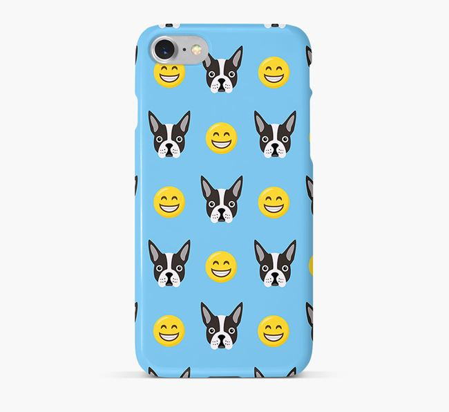 'Smile' Pattern Phone Case with Dog Icon