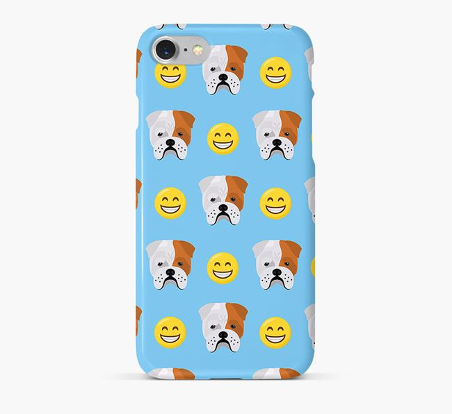 'Smile' Pattern Phone Case with Bull Pei Icon