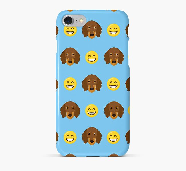 'Smile' Pattern Phone Case with Dachshund Icon