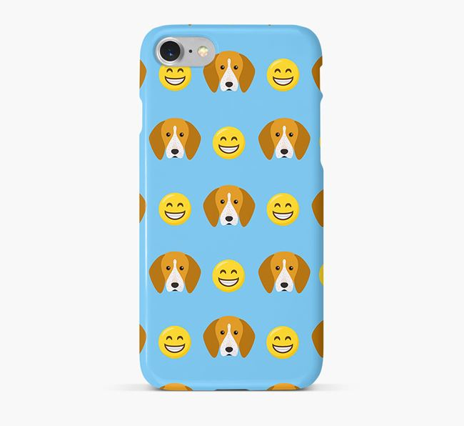 'Smile' Pattern Phone Case with English Coonhound Icon