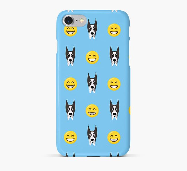 'Smile' Pattern Phone Case with Great Dane Icon