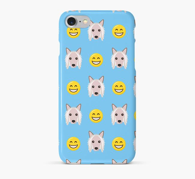 'Smile' Pattern Phone Case with Hairless Chinese Crested Icon