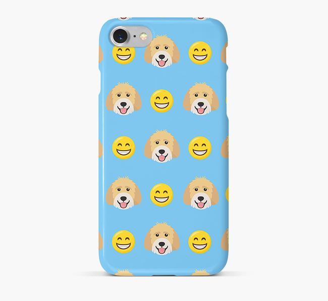 'Smile' Pattern Phone Case with Labradoodle Icon