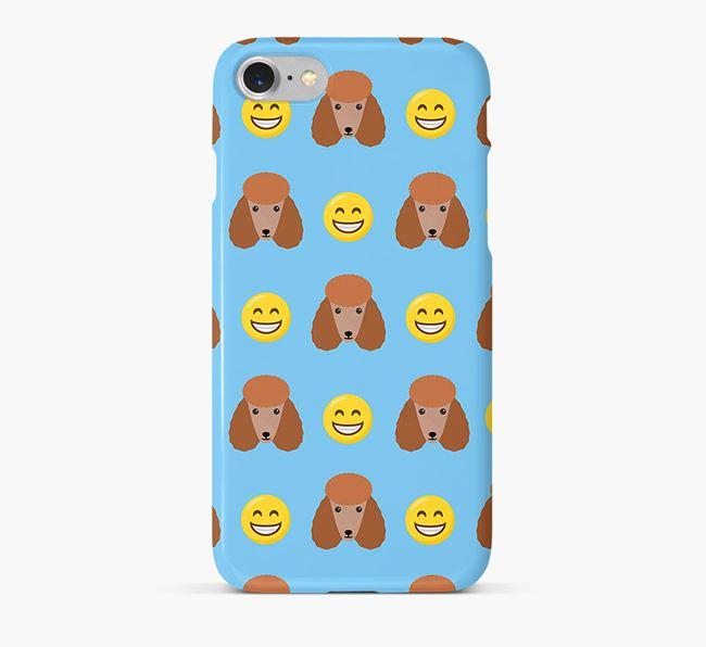 'Smile' Pattern Phone Case with Poodle Icon