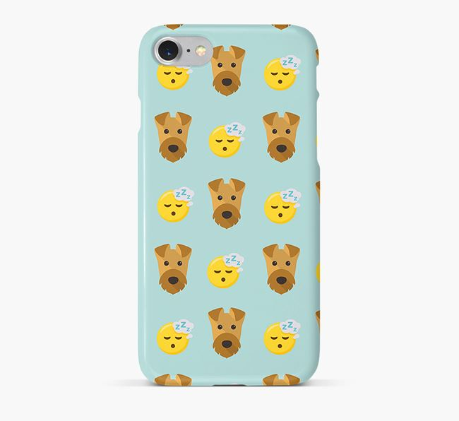 'Tired' Pattern Phone Case with Airedale Terrier Icon