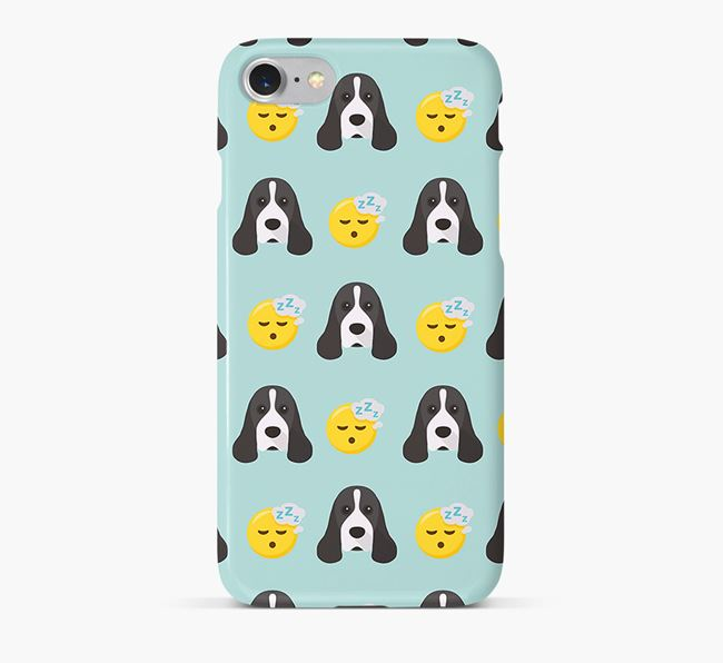'Tired' Pattern Phone Case with American Cocker Spaniel Icon
