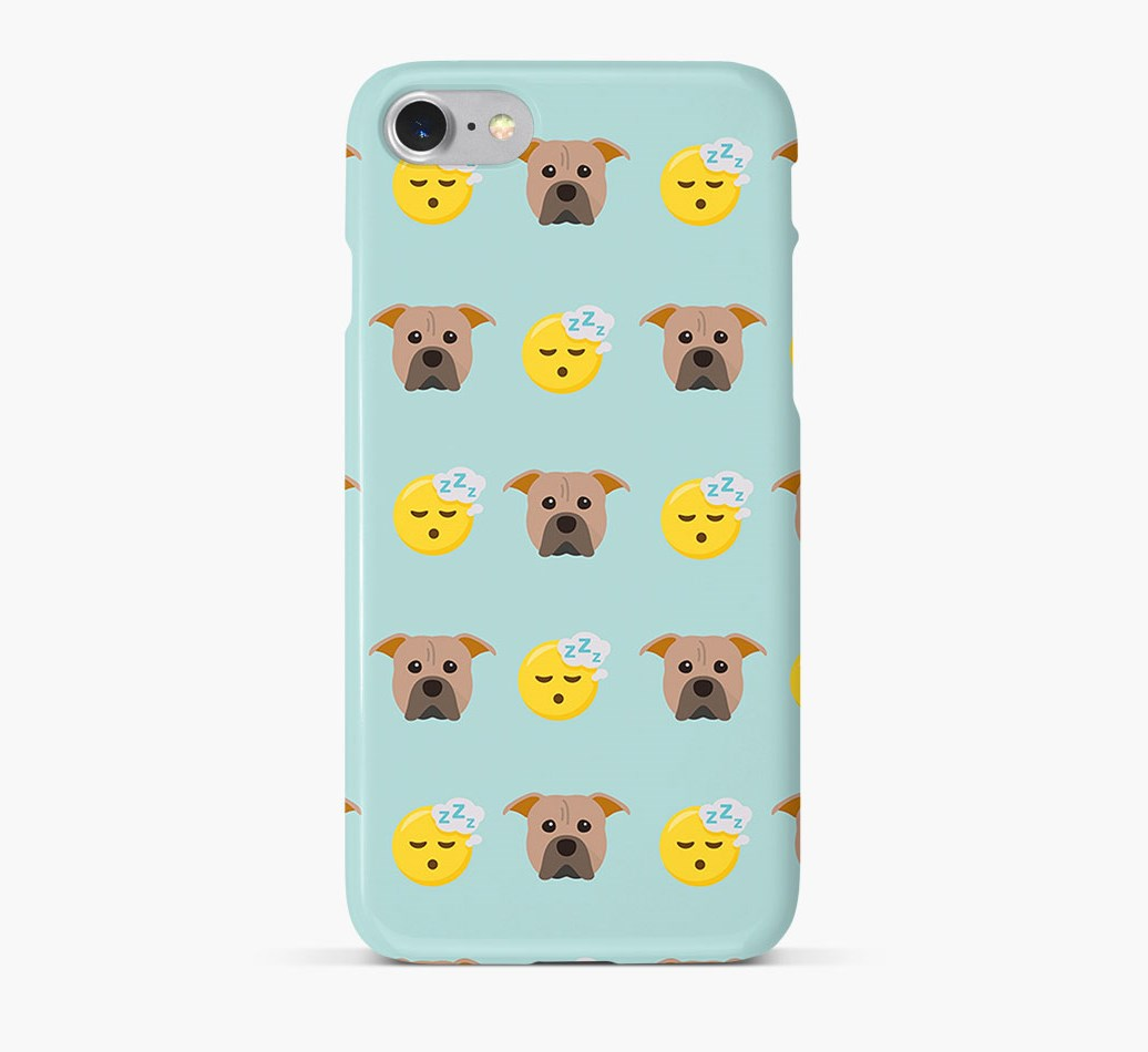 'Tired' Pattern Phone Case with American Pit Bull Terrier Icon