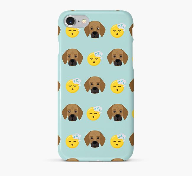 'Tired' Pattern Phone Case with Bassugg Icon
