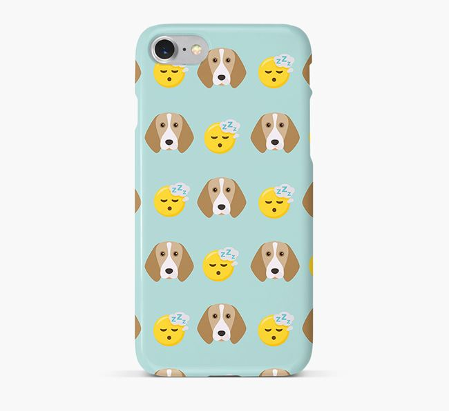 'Tired' Pattern Phone Case with Beagle Icon