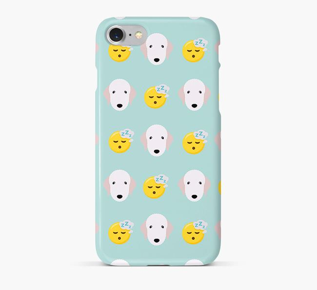 'Tired' Pattern Phone Case with Bedlington Terrier Icon