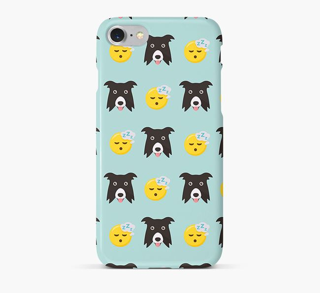 'Tired' Pattern Phone Case with Border Collie Icon