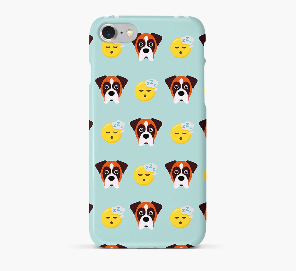 'Tired' Pattern Phone Case with Boxer Icon