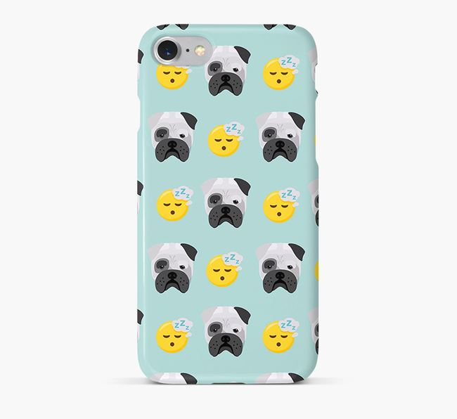 'Tired' Pattern Phone Case with Bull Pei Icon