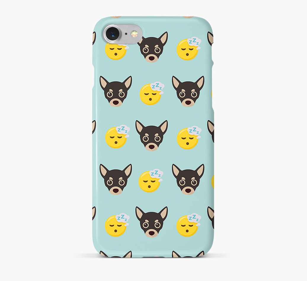 'Tired' Pattern Phone Case with Chihuahua Icon