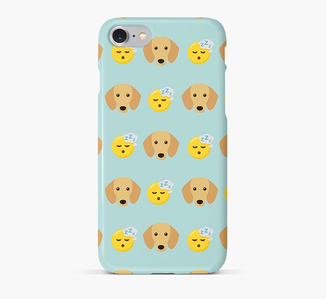 'Tired' Pattern Phone Case with Dachshund Icon