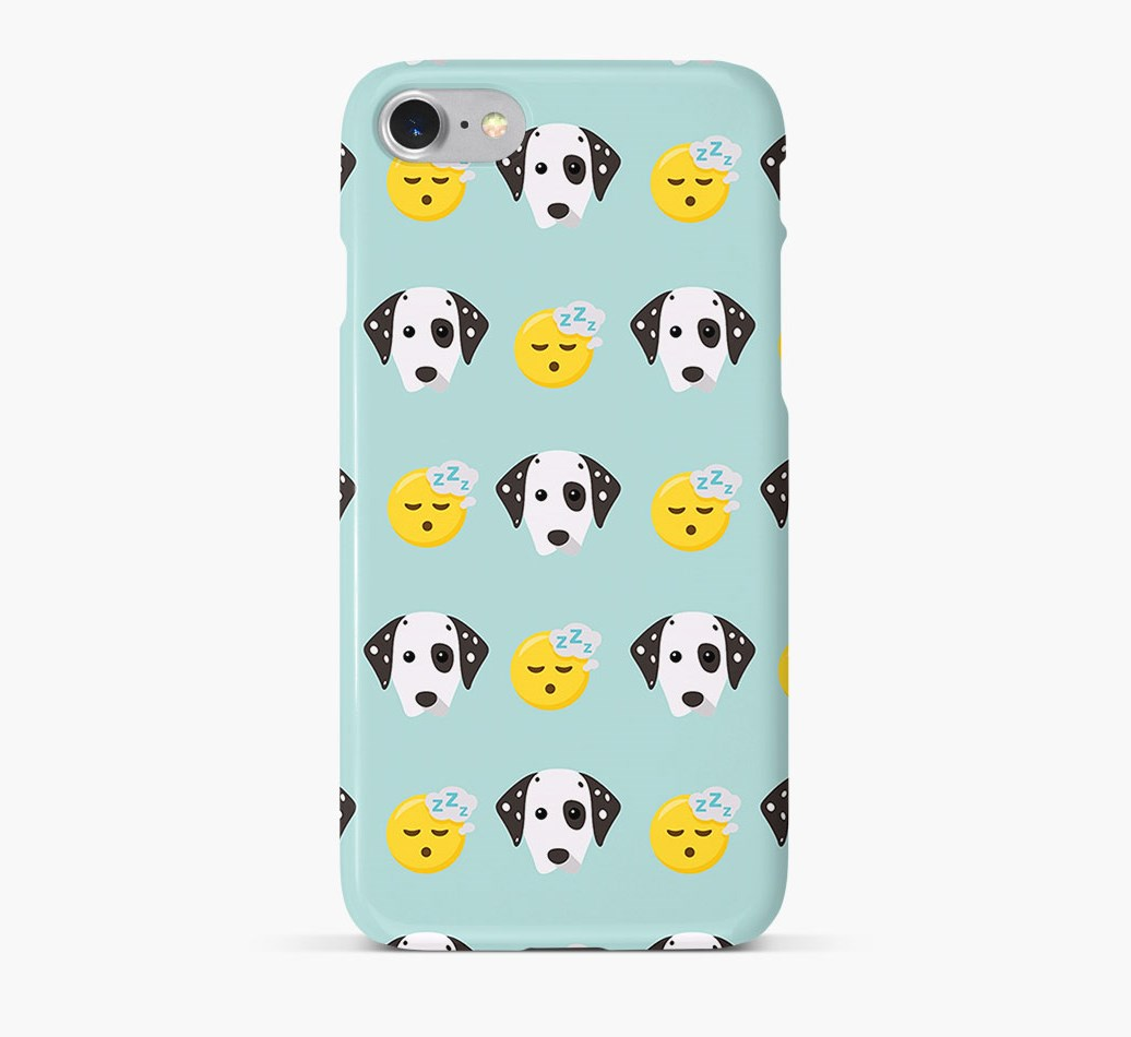 'Tired' Pattern Phone Case with Dalmatian Icon