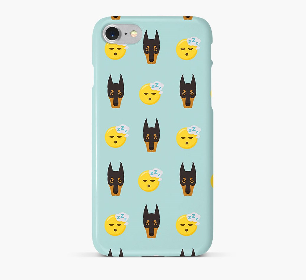 'Tired' Pattern Phone Case with Dobermann Icon