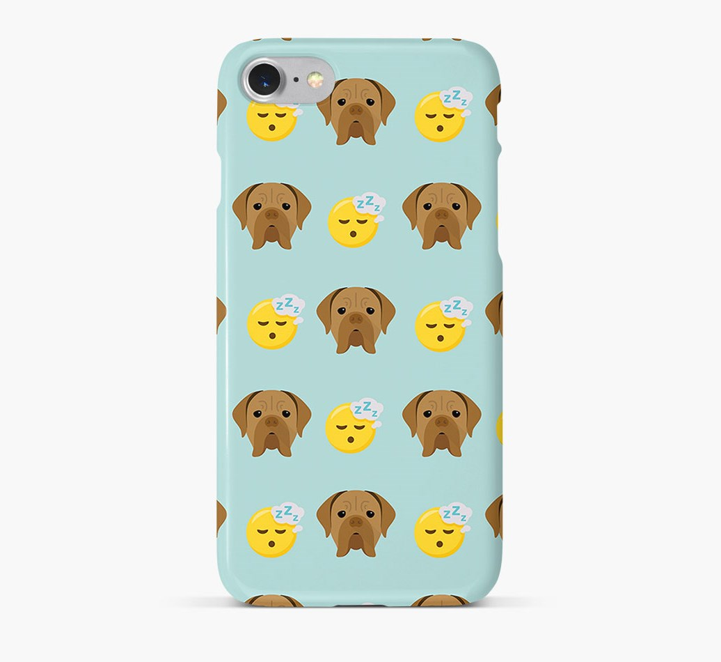 'Tired' Pattern Phone Case with Dogue de Bordeaux Icon
