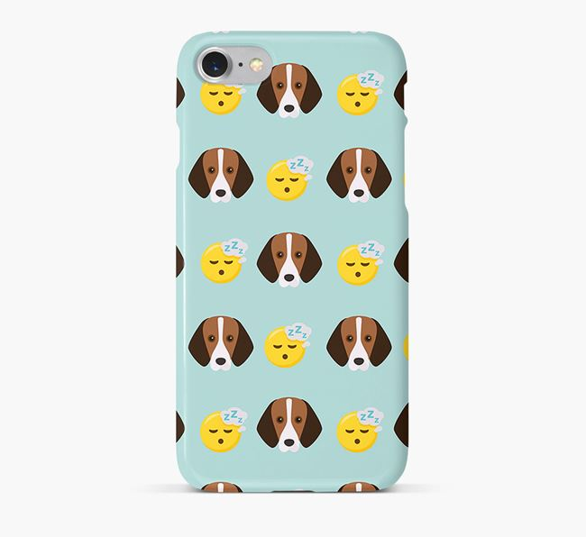 'Tired' Pattern Phone Case with Foxhound Icon