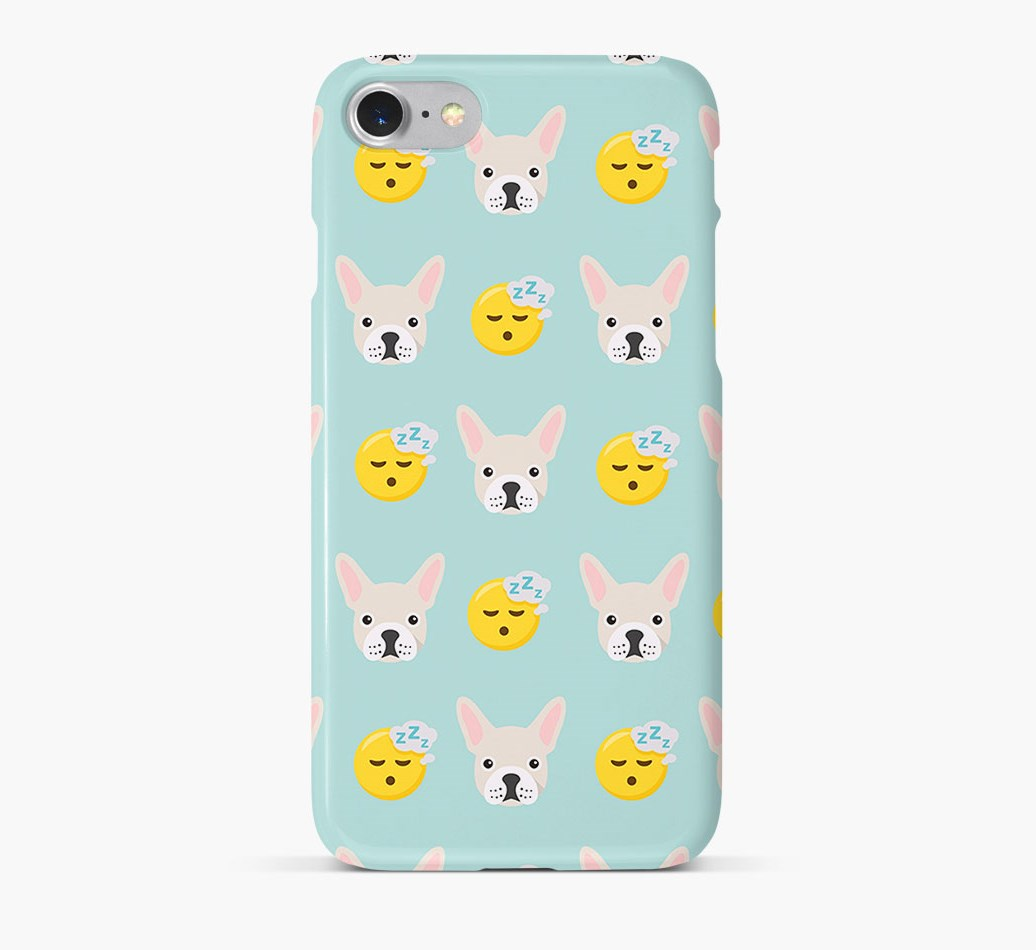 'Tired' Pattern Phone Case with French Bulldog Icon