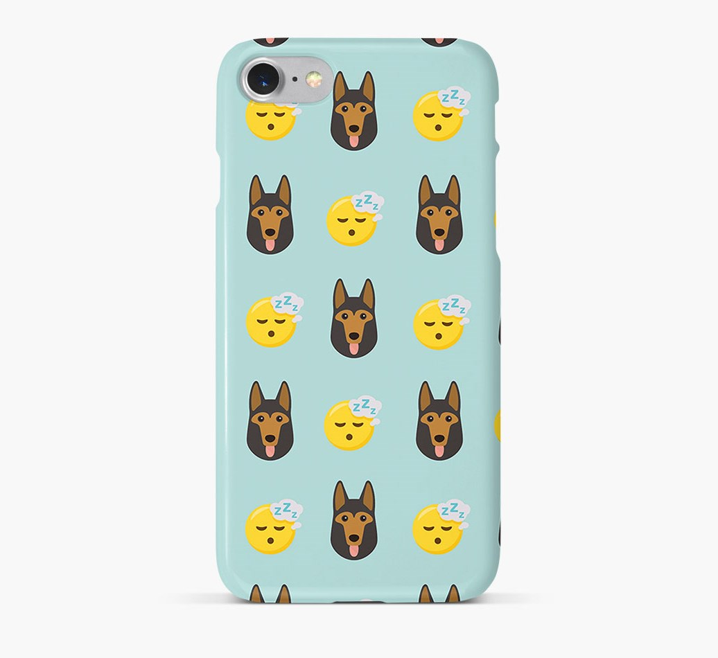 'Tired' Pattern Phone Case with German Shepherd Icon