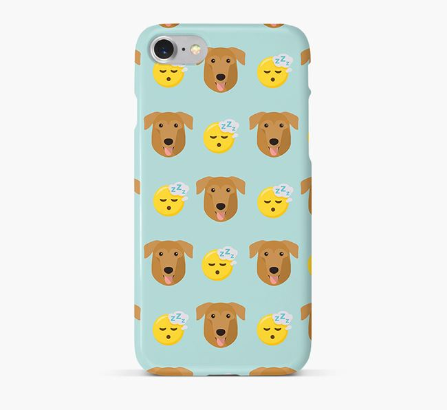 'Tired' Pattern Phone Case with German Sheprador Icon