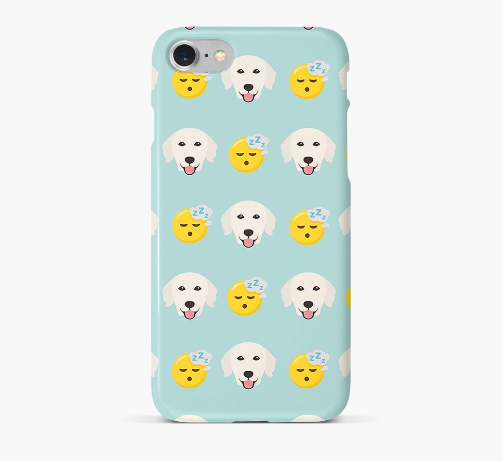 'Tired' Pattern Phone Case with Golden Retriever Icon