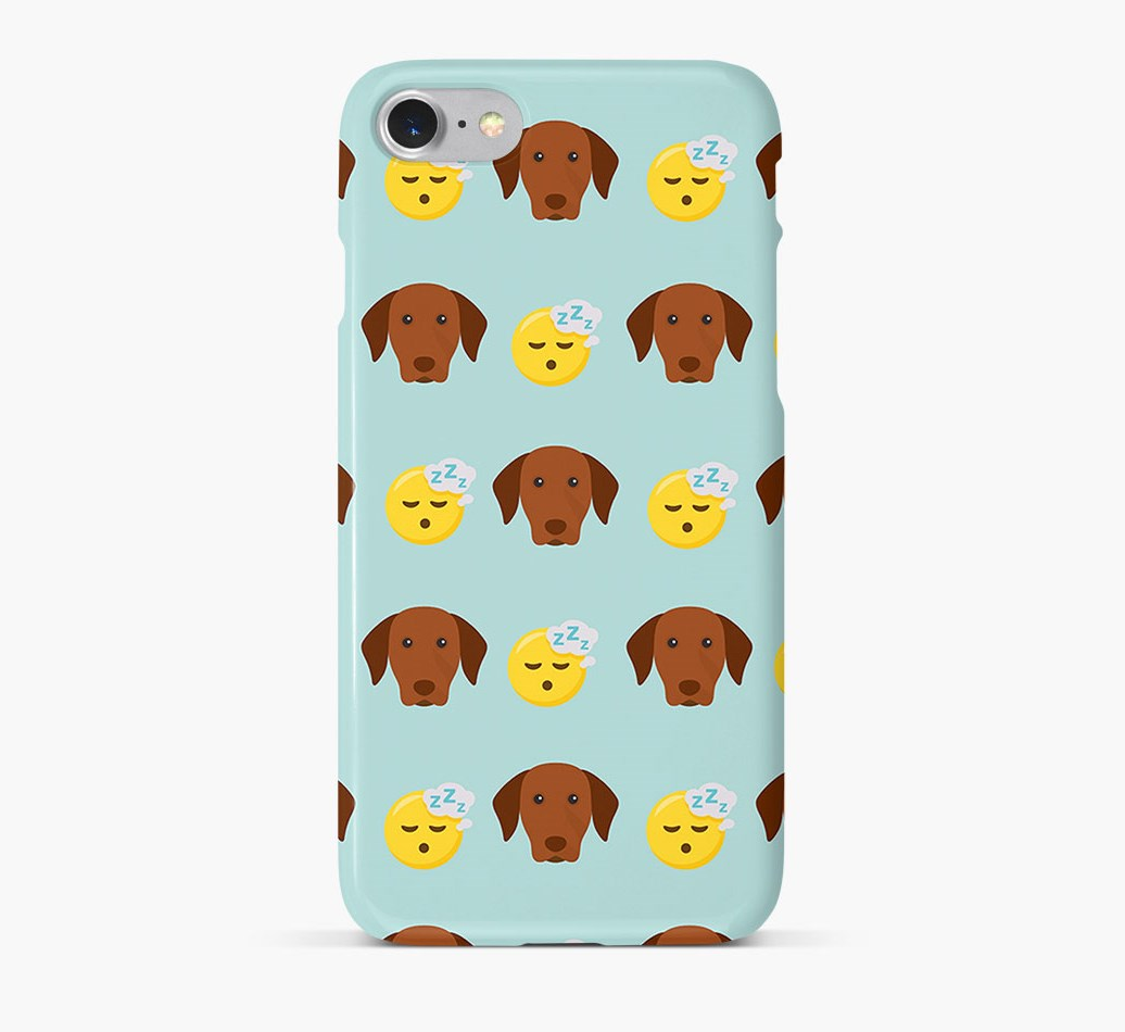 'Tired' Pattern Phone Case with Hungarian Vizsla Icon
