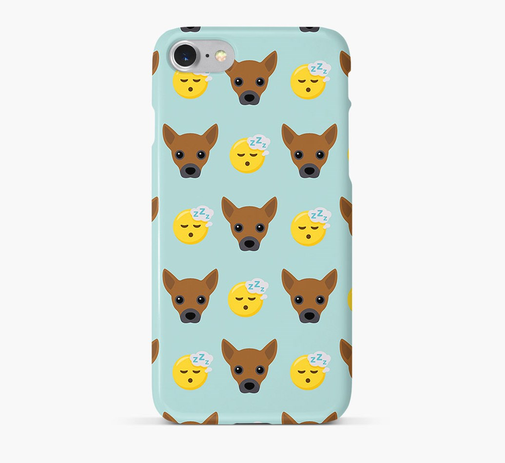 'Tired' Pattern Phone Case with Jackahuahua Icon