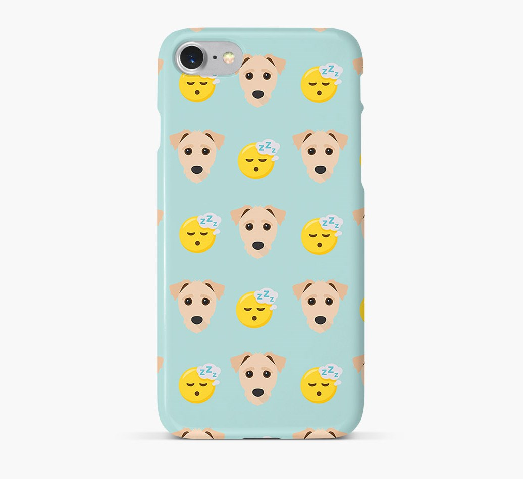 'Tired' Pattern Phone Case with Jack-A-Poo Icon