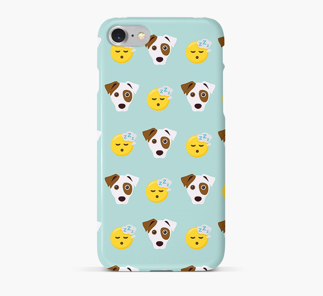 'Tired' Pattern Phone Case with Jack Russell Terrier Icon