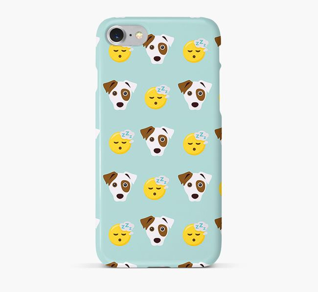'Tired' Pattern Phone Case with Dog Icon