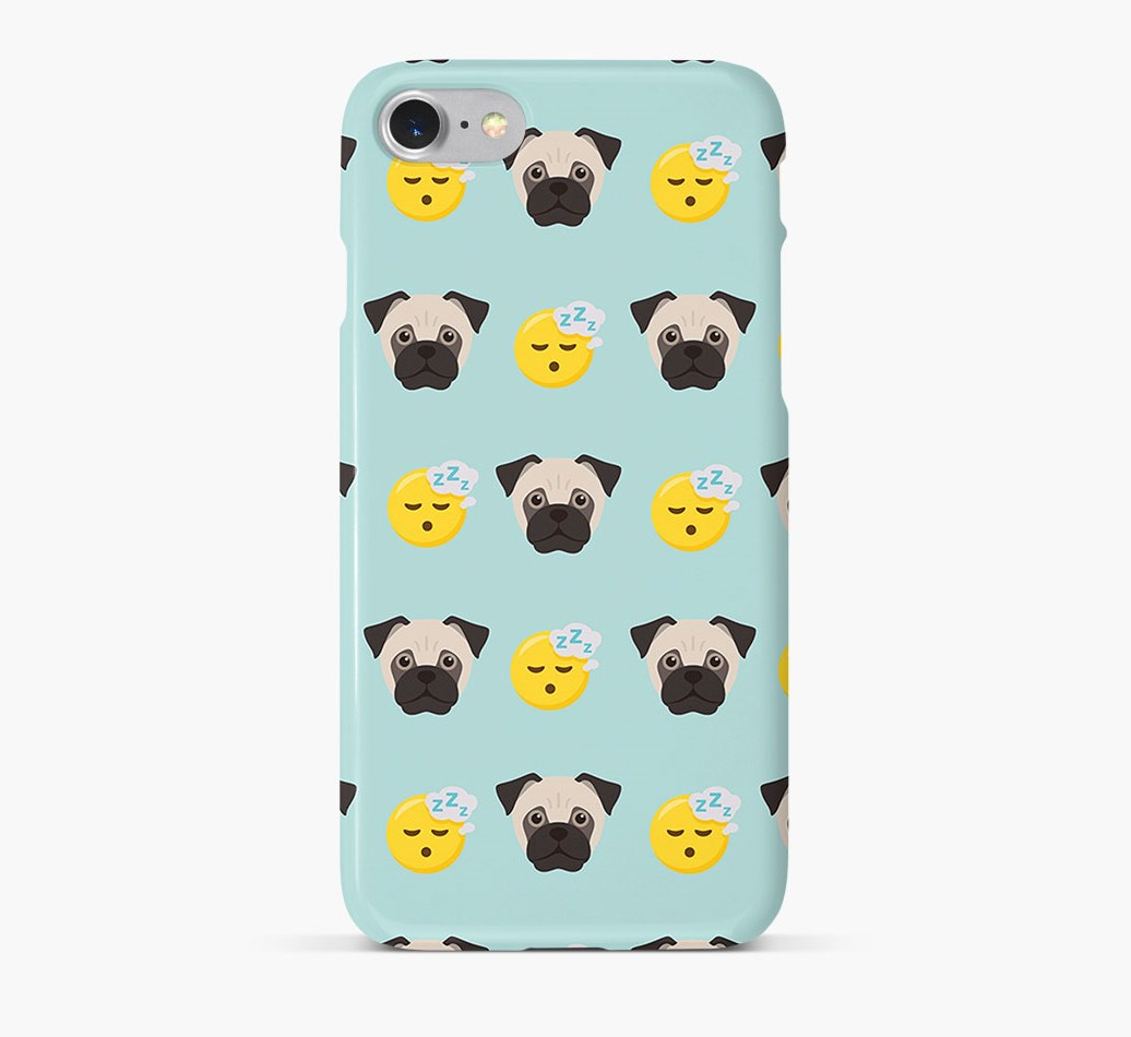 'Tired' Pattern Phone Case with Jug Icon