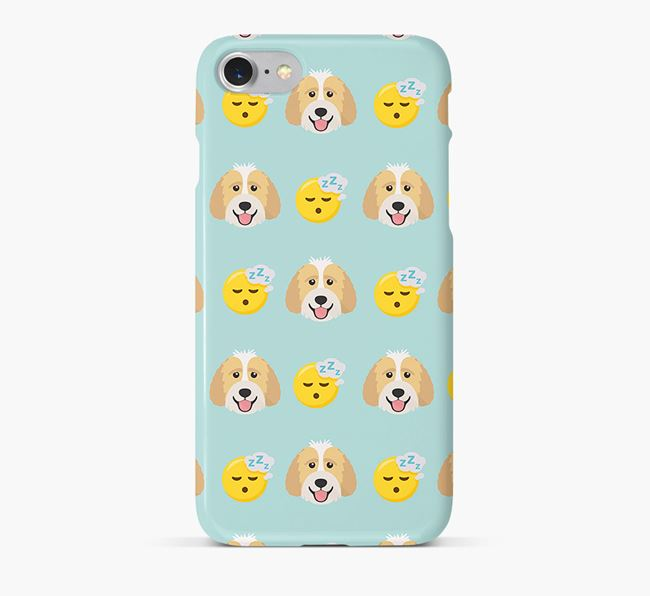 'Tired' Pattern Phone Case with Labradoodle Icon