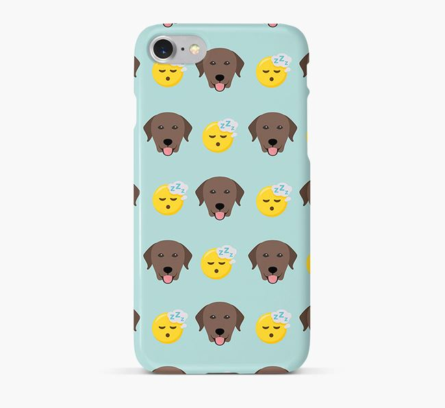 'Tired' Pattern Phone Case with Labrador Retriever Icon