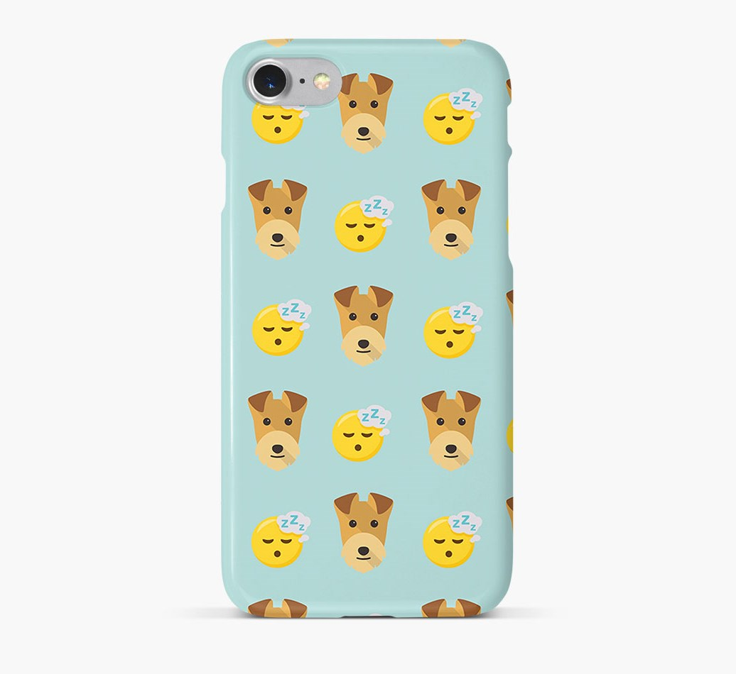 'Tired' Pattern Phone Case with Lakeland Terrier Icon