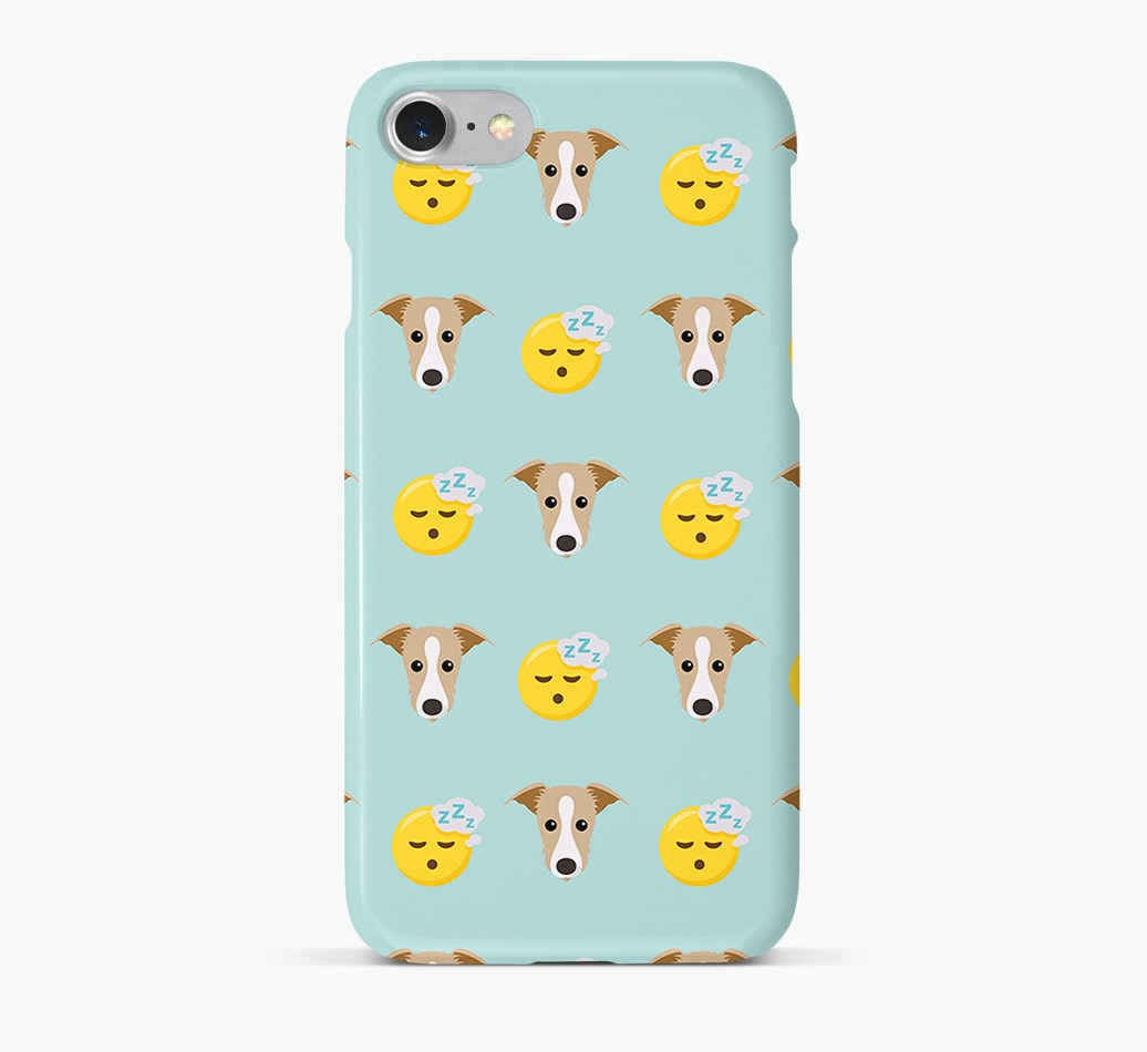 'Tired' Pattern Phone Case with Lurcher Icon