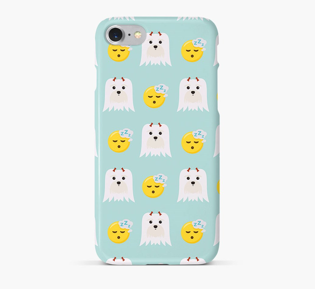'Tired' Pattern Phone Case with Maltese Icon