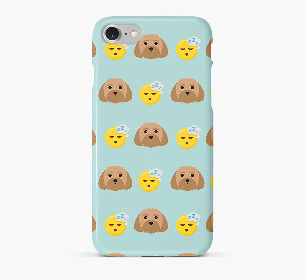 'Tired' Pattern Phone Case with Malti-Poo Icon