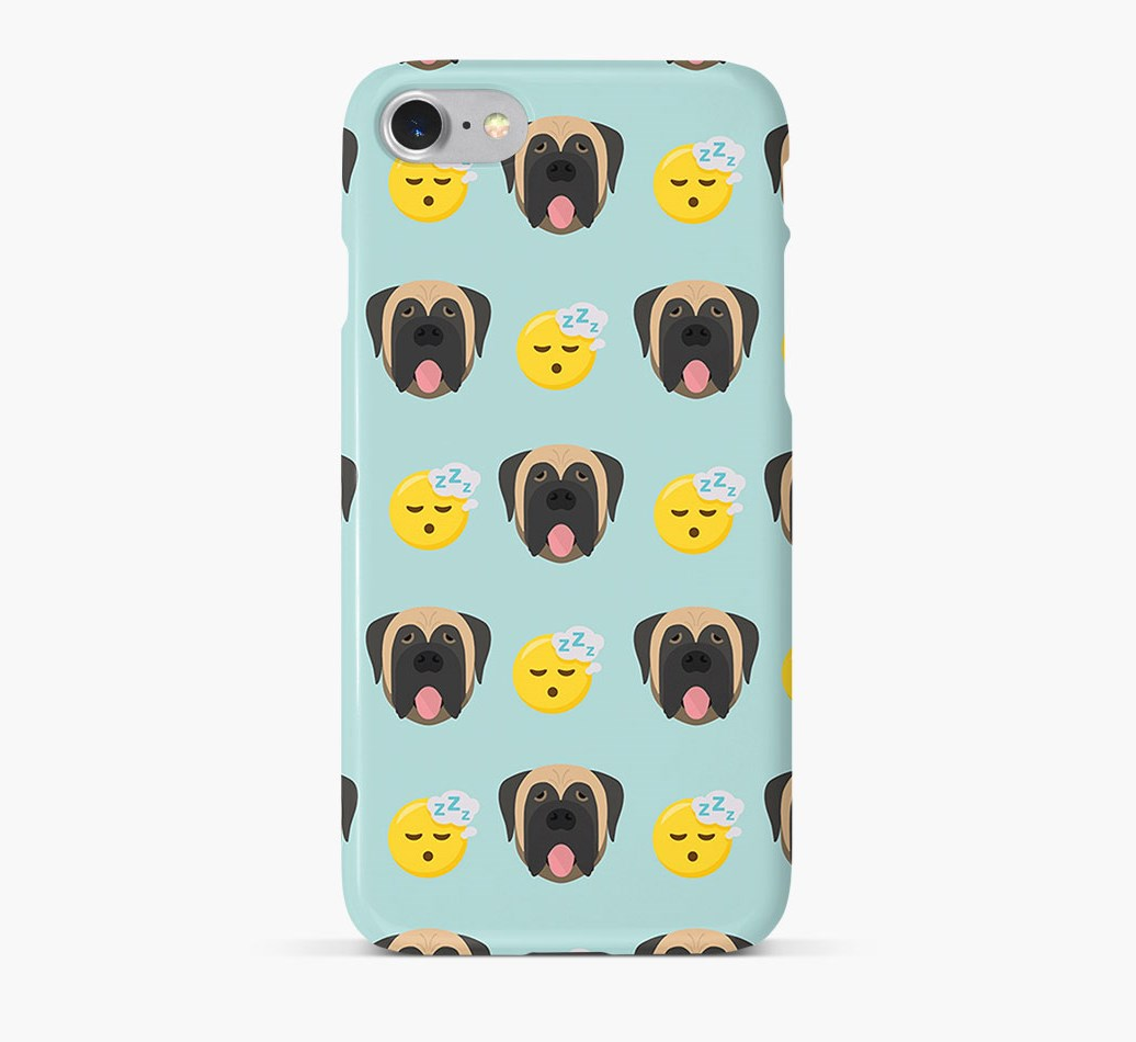 'Tired' Pattern Phone Case with Mastiff Icon