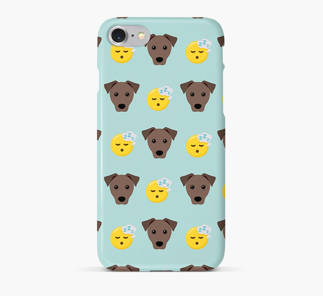 'Tired' Pattern Phone Case with Mixed Breed Icon